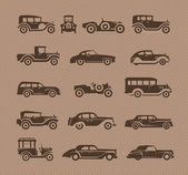 Old cars. Vector format — Stock Vector