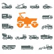 Stock Vector: Transportation icons. Vector format