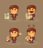 Business. Document — Stock Vector