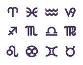 Zodiac symbols. Vector format — Stock Vector