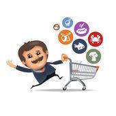 Supermarket. Vector format — Stock Vector