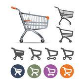 Shopping cart. Vector format — Vettoriale Stock