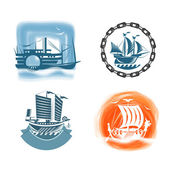 Ships. Vector format — Stock Photo