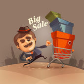 Big sale. Vector format — Vector de stock
