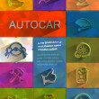 Autocar icons. Vector format — Stock Vector