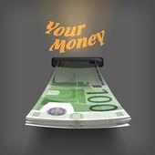 Euro money. Vector Format — Stock Vector