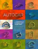 Iconos de autocar. formato vectorial — Vector de stock