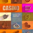 Casino. Vector format — Stock Vector