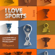 I love sports — Stock Vector