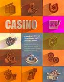 Casino. Vector format — Vetor de Stock