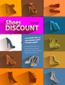 Shoes discount icons. Vector format — Stockvektor
