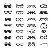 Glasses icons. Vector format — Stock Vector