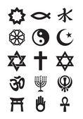 Religion symbols. Vector format — Stock Vector