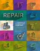 Repair icons. Vector format — Stock Vector