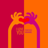 I love you. Vector format — Stock Vector