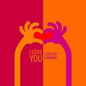 I love you. Vector format — Stockvector