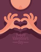 Happy Valentine's Day. Vector format — Stock vektor