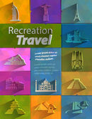 Recreation. Travel — Stock Vector