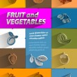 Fruit and Vegetables. Vector format — Stock Vector