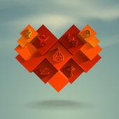 Heart. Vector format — Stock Vector