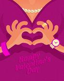 Happy valentine's day. Vector format — Stock Photo