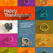 Happy Thanksgiving. Vector format — Stok Vektör