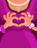 Heart. Vector format — Vettoriale Stock