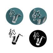 Jazz icons — Stock Vector