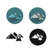 Egypt icons — Stock Vector