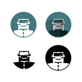 Auto-symbol — Stockvektor