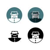 Araba simgesi — Stok Vektör