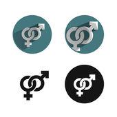 Icono de sexo — Vector de stock