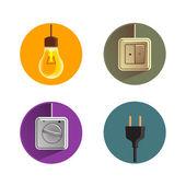 Electricity.Vector format — Vector de stock