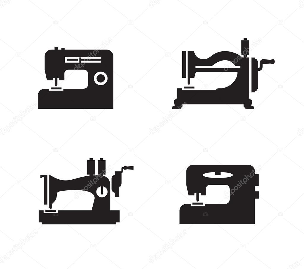 NähmaschineSymbole Vektorformat — Stockvektor © sergeypykhonin #42621909 -> Nähmaschine Blockiert