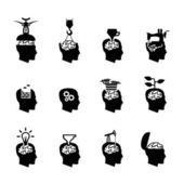 Head icons — Stock Vector