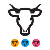 Cow icon. Vector format — Stock Vector