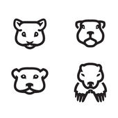 Animals icons. Vector format — Stock Vector