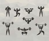 Gym icons. Vector format — 图库矢量图片