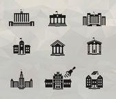 Architecture icons. Vector format — Stock Vector