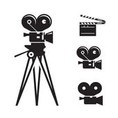 Movie camera. Vector format — Stock Vector