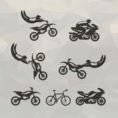 Motorcycle icons. Vector format — Stock Vector