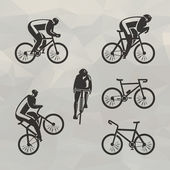 Cyclist icons. Vector format — Stock Vector