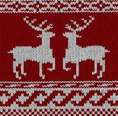 Norwegian pattern - reindeer - vector — Stok Vektör