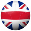 Soccer football - country flag GREAT BRITAIN — Stock Vector