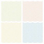 Samling av mångfärgade vågor bakgrund - oändliga — Stockvektor