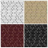 Samling tegel vägg bakgrund - oändliga — Stockvektor