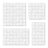 Collection of puzzle templates — Stock Vector