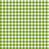 Checkered tablecloths pattern - endless - green — Stock Vector
