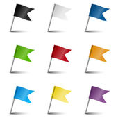 Collection of marking accessories - marking flags — Stock Vector