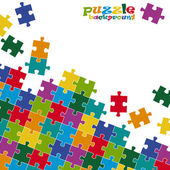 Puzzle pieces background colored — Stock Vector